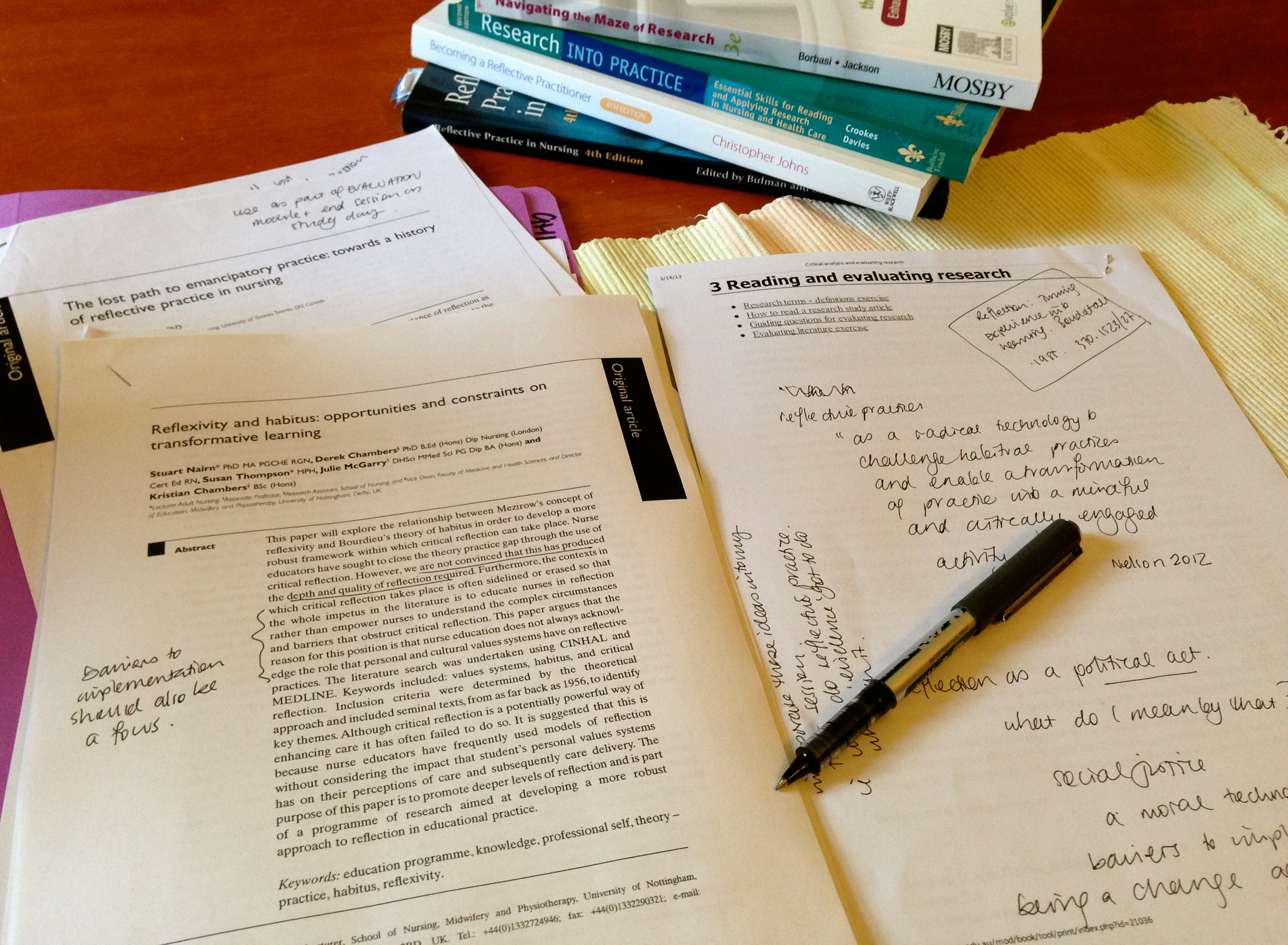 health policy reflection paper Introduction although theoretical preparation clearly is important, there is no substitute for the learning that takes place during clinical experiences.
