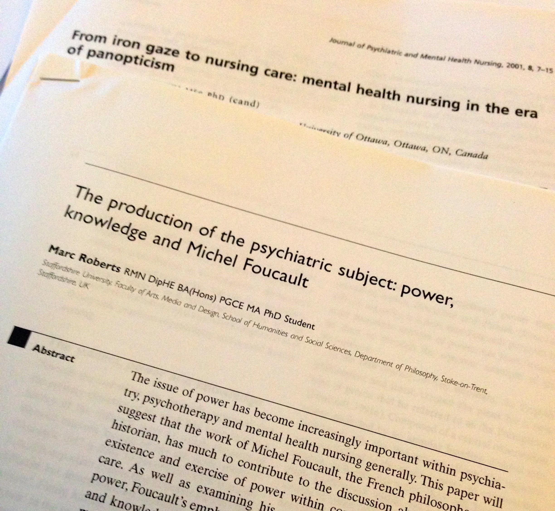 mental health history in practice foucault